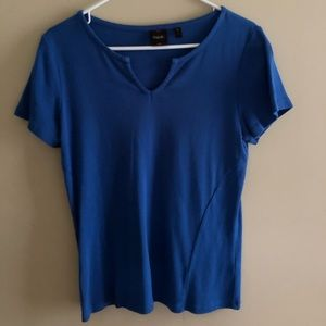 royal blue v neck